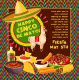 Mexikanische Feierfiesta Cinco de Mayo-Vektors Lizenzfreies Stockfoto