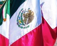 Mexikanische Flagge im Sonnenlicht Lizenzfreie Stockfotos