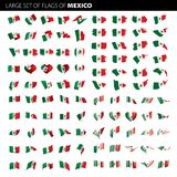 Mexikanische Flagge, Vektorillustration Lizenzfreie Stockfotos