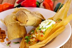 Mexikanische gefüllte Maismehltasche Lizenzfreie Stockbilder