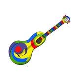Mexikanische Gitarre auf dem weißen Hintergrund Lizenzfreie Stockfotos