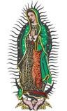 Mexikanische Jungfrau von Guadalupe - Farbvektor Lizenzfreies Stockbild
