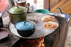 Mexikanische Küche in einer ländlichen Region stockbild