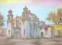 Mexikanische Kolonialkirche Stockbild
