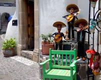 Mexikanische Kunst voll vom Leben, von der Musik und von der Farbe lizenzfreie stockfotografie