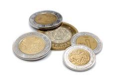 Mexikanische Münzen Lizenzfreie Stockfotos