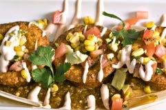 Mexikanische Mais-Kuchen stockbild