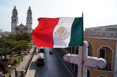 Mexikanische Markierungsfahne Stockfotos