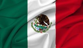 Mexikanische Markierungsfahne - Mexiko Stockfotografie
