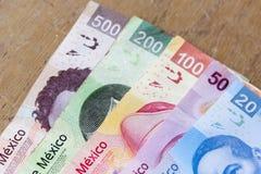 Mexikanische Pesos Stockfotografie