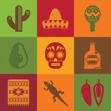 Mexikanische Quadrate Stockfotografie
