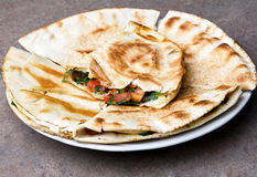 Mexikanische quesadillas Stockbilder