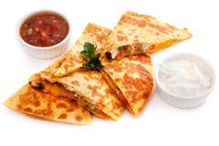 Mexikanische Quesadillas mit Käse, Gemüse Lizenzfreies Stockfoto