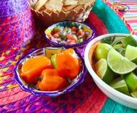 Mexikanische sauces Pico de Gallo Habanero-Paprikasoße lizenzfreies stockbild
