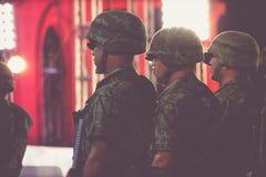 Mexikanische Soldaten an der Unabhängigkeitsfeier Lizenzfreie Stockfotografie