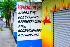 Mexikanische Straßen-Szene stockbild