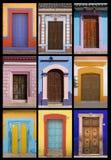 Mexikanische Türen Stockfotografie