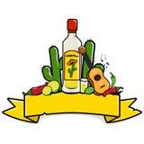 Mexikanische Tequilafahne lizenzfreie abbildung