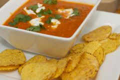 Mexikanische Tomatensuppe Stockfotos
