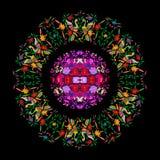 Mexikanische traditionelle Textilstickerei-Art von Tenango-Stadt, Hidalgo, M?xico E lizenzfreie abbildung