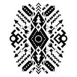 Mexikanische und aztekische Stammes- Verzierung Vektor Lizenzfreie Stockbilder