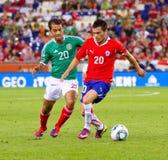 Mexikanische und chilenische Spieler Lizenzfreies Stockfoto