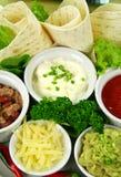 Mexikanische vegetarische Mehrlagenplatte lizenzfreies stockfoto