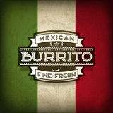 Mexikanischer Burrito Lizenzfreie Stockbilder
