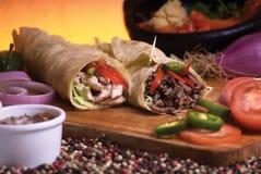 Mexikanischer Burrito Stockfotografie
