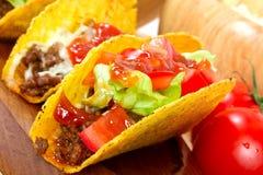 Mexikanischer Burritoabschluß oben Stockfoto