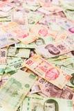 Mexikanischer Geldhintergrund Lizenzfreies Stockfoto