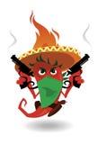 Mexikanischer heißer Vektor des roten Pfeffers Stockfoto