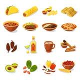 Mexikanischer Lebensmittel-Satz Stockfotos
