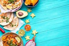 Mexikanischer Lebensmittelhintergrund lizenzfreie stockbilder