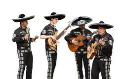 Mexikanischer Musikermariachi versehen mit einem Band Stockfoto