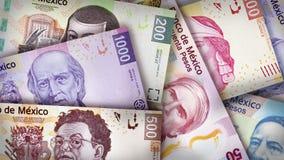 Mexikanischer Peso-Papier-Rechnungen Lizenzfreie Stockfotos