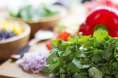 Mexikanischer Salat mit Knoblauchsoße Lizenzfreie Stockfotografie
