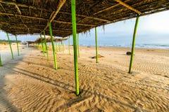 Mexikanischer Strand Palapa Stockfoto
