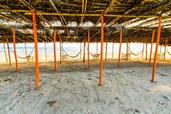Mexikanischer Strand Palapa Lizenzfreies Stockfoto