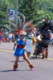 Mexikanischer Tänzer an Mendota-Parade Lizenzfreie Stockfotos