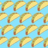 Mexikanischer Taco der Skizze in der Weinleseart Stockbild
