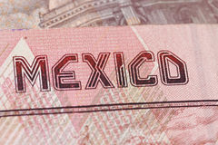 Mexikanisches Bargeld Stockfotografie