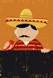 Mexikanisches Chef-Koch-Menü Stockfoto