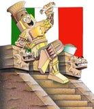 Mexikanisches Gaststätte-Menü-Bild stock abbildung
