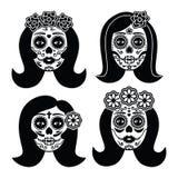 Mexikanisches La Catrina - Tag des toten Mädchenschädels Lizenzfreie Stockfotografie