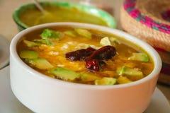 Mexikanisches Lebensmittel caldo tlalpeño Lizenzfreie Stockbilder