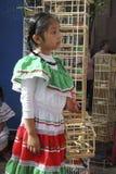 Mexikanisches Mädchen mit Vögeln Stockbilder