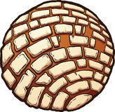 Mexikanisches süßes Brot lizenzfreie abbildung