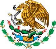 Mexikanisches Wappen Farbe Stockfotos