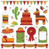 mexikansk deltagare royaltyfri illustrationer